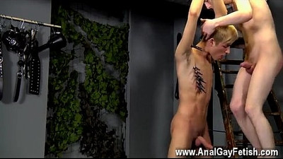 blonde gay   blowjob   bondage